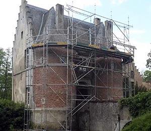 Echafaudages au Chateau de Laurensart près de Wavre