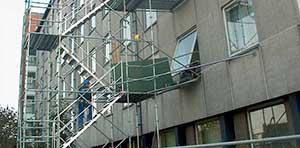 Tournai: Location d'une tour escalier et issue de secours en aluminium tubulaire