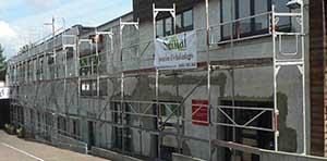 Bruxelles Uccle: location d'échafaudage pour rénovation de façade