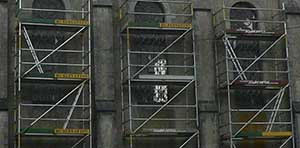Bièvre Namur: Location d'échafaudage pour l'église de Petit-Fays